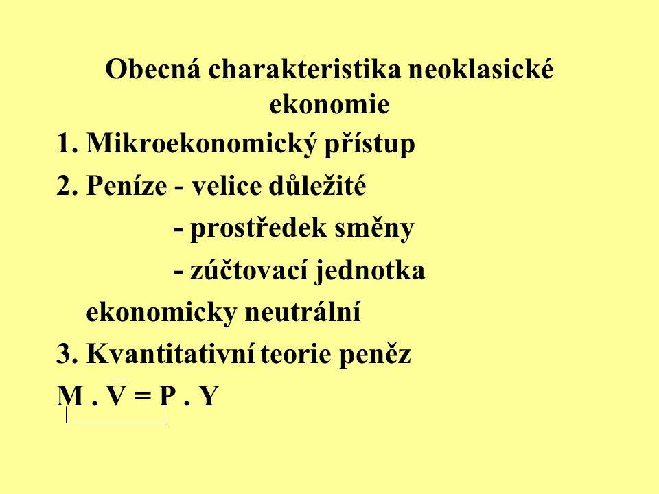Obecná charakteristika neoklasické ekonomie