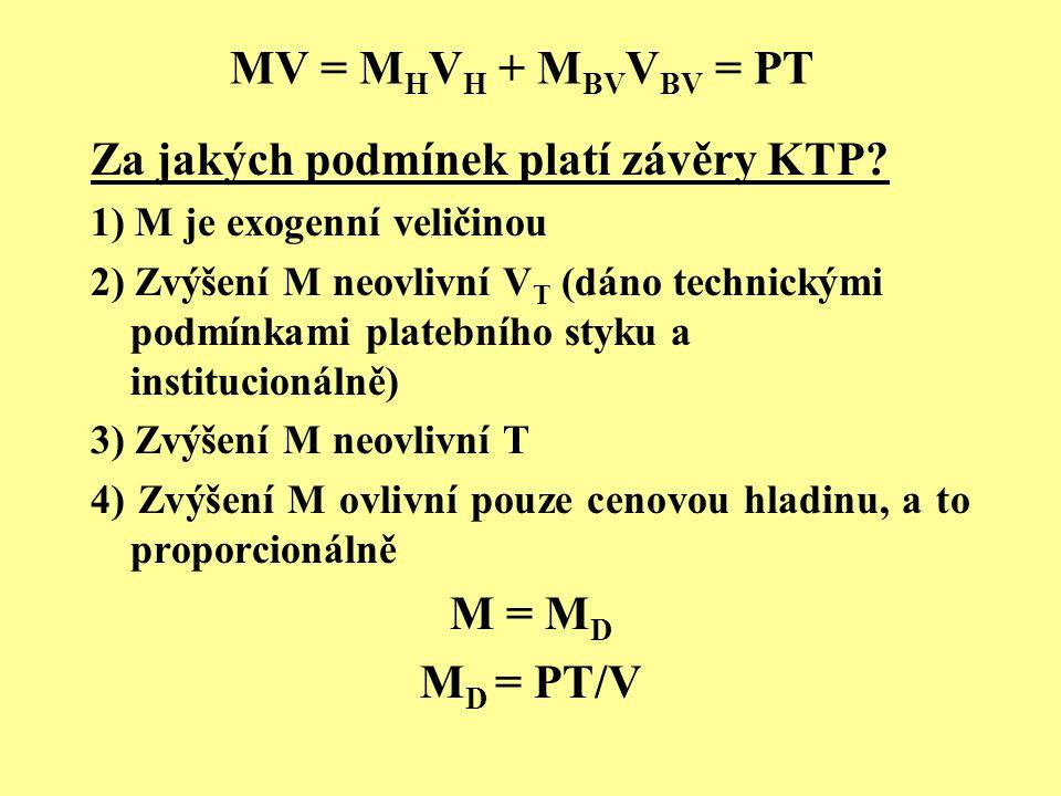 MV = MHVH + MBVVBV = PT M = MD MD = PT/V