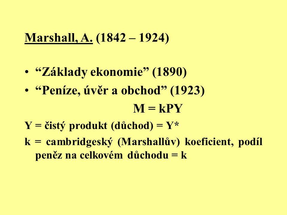 Peníze, úvěr a obchod (1923) M = kPY