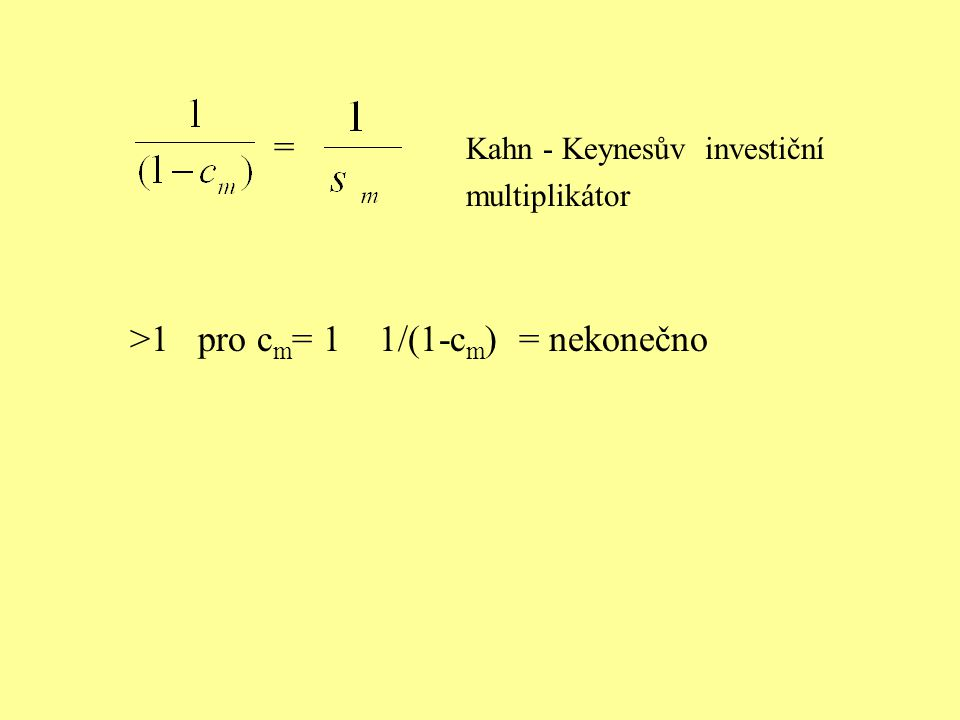 = Kahn - Keynesův investiční