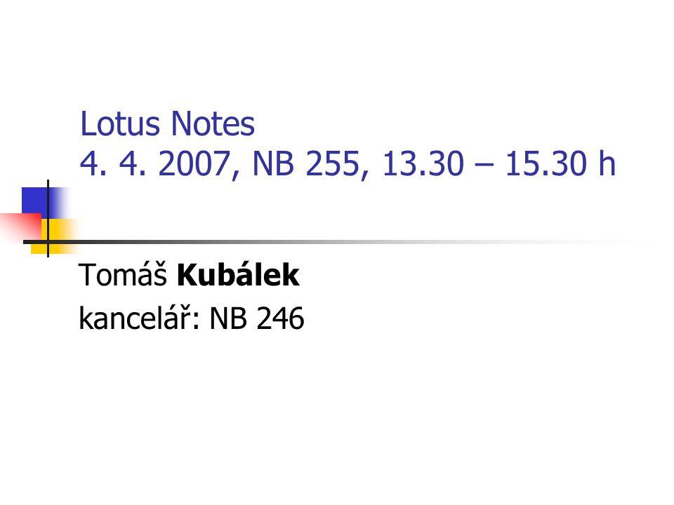 Tomáš Kubálek kancelář: NB 246