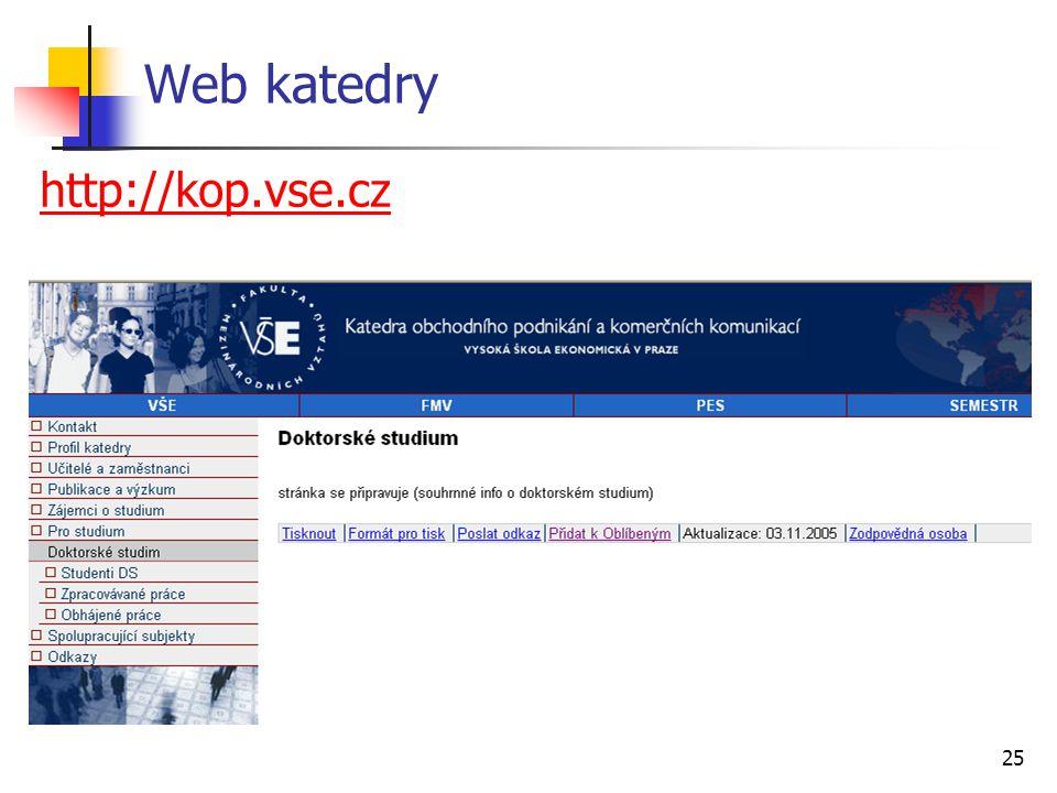 Web katedry http://kop.vse.cz