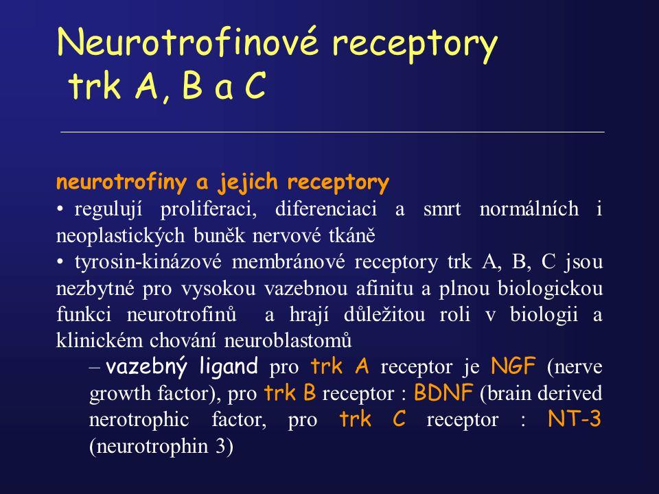 Neurotrofinové receptory trk A, B a C