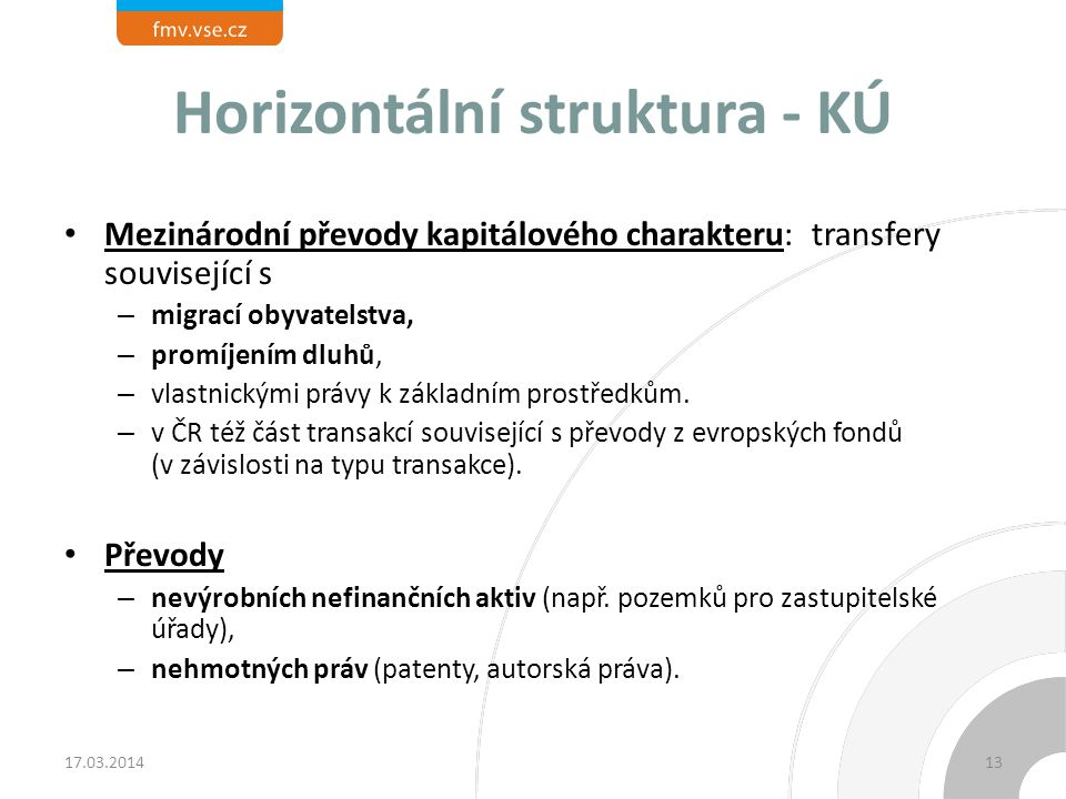 Horizontální struktura - KÚ