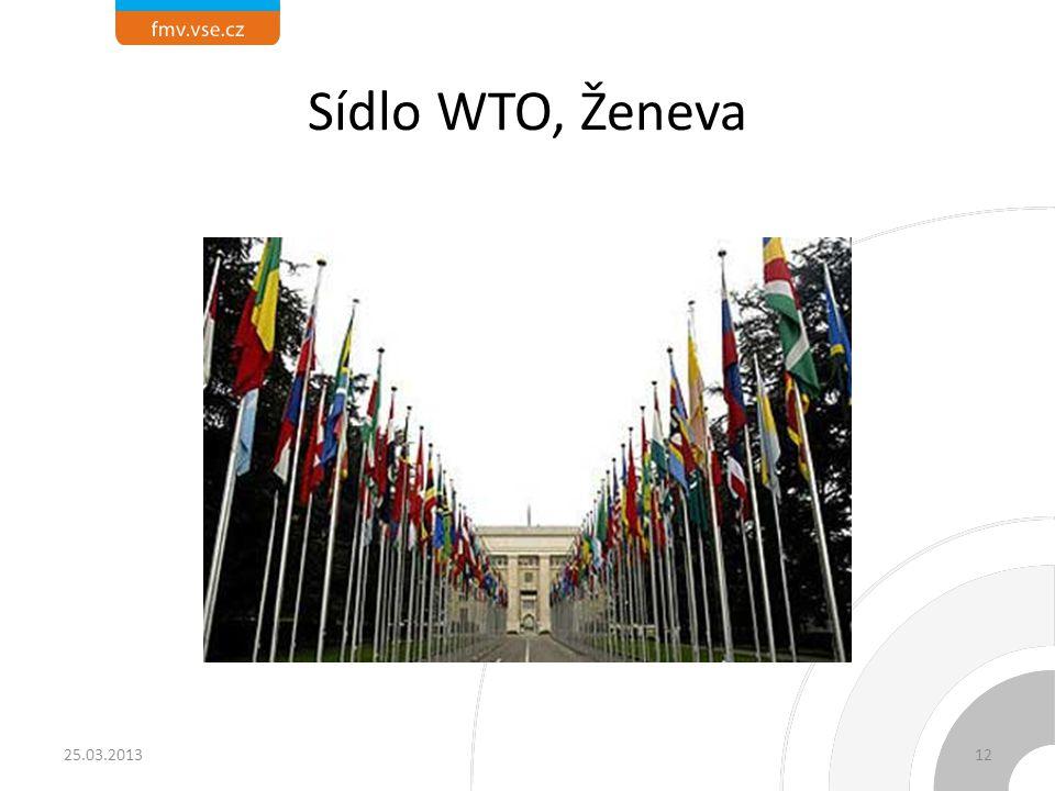 Sídlo WTO, Ženeva 25.03.2013