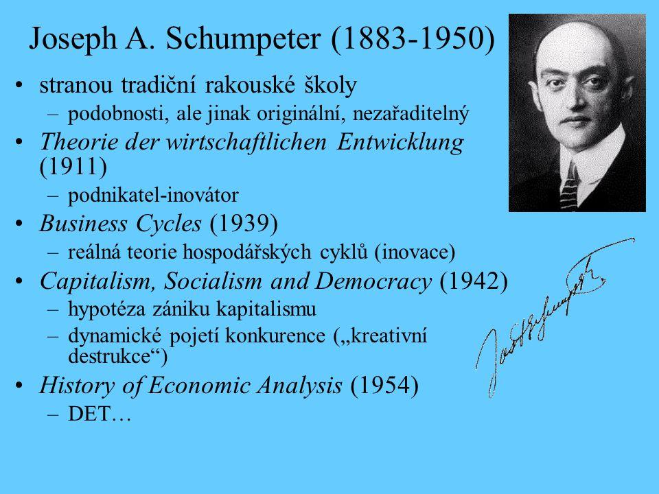 Joseph A. Schumpeter (1883-1950)