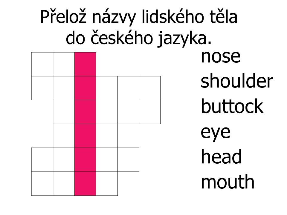Přelož názvy lidského těla do českého jazyka.
