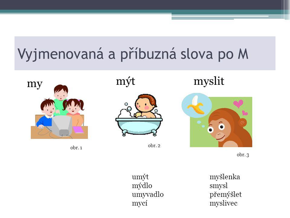 Vyjmenovaná a příbuzná slova po M