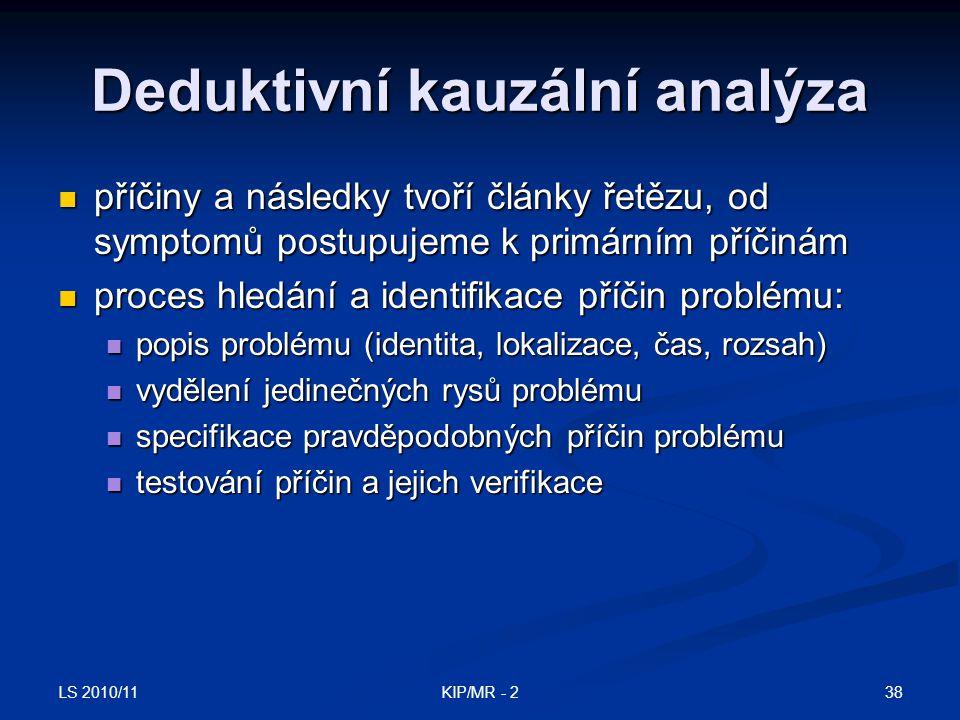 Deduktivní kauzální analýza