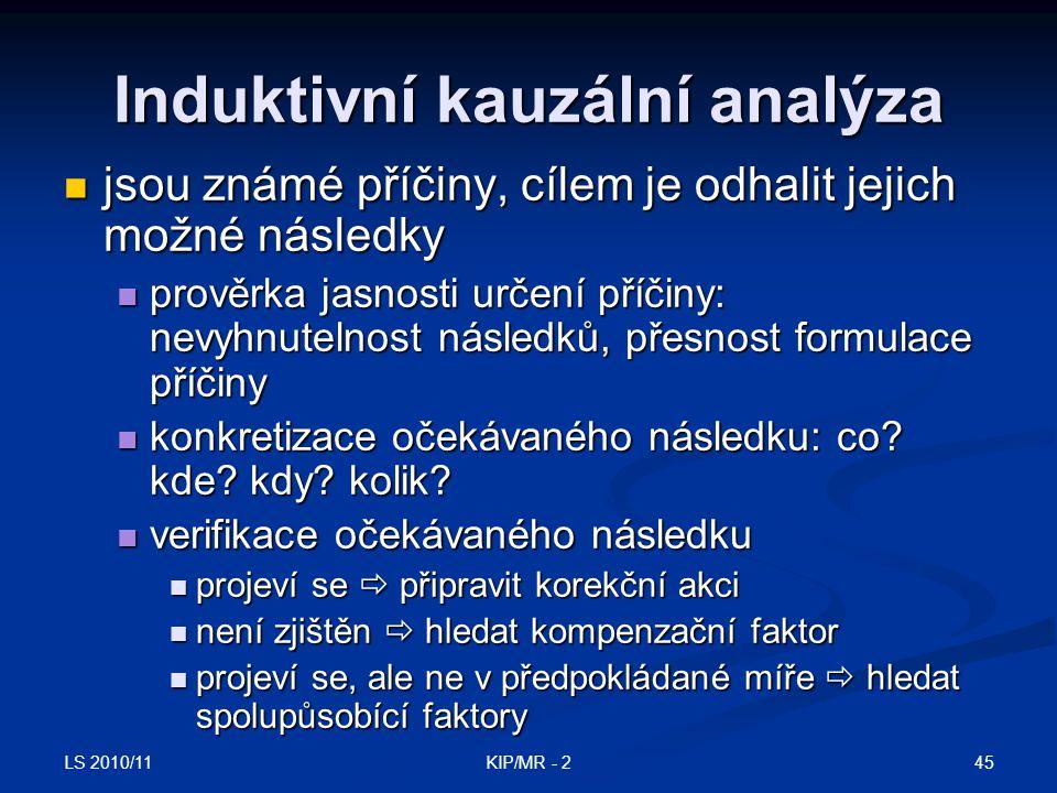 Induktivní kauzální analýza