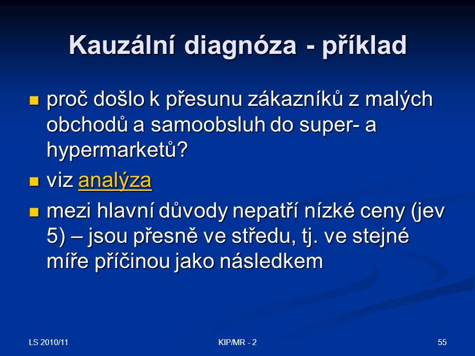Kauzální diagnóza - příklad