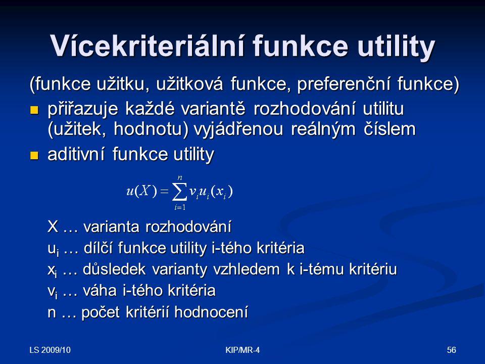 Vícekriteriální funkce utility