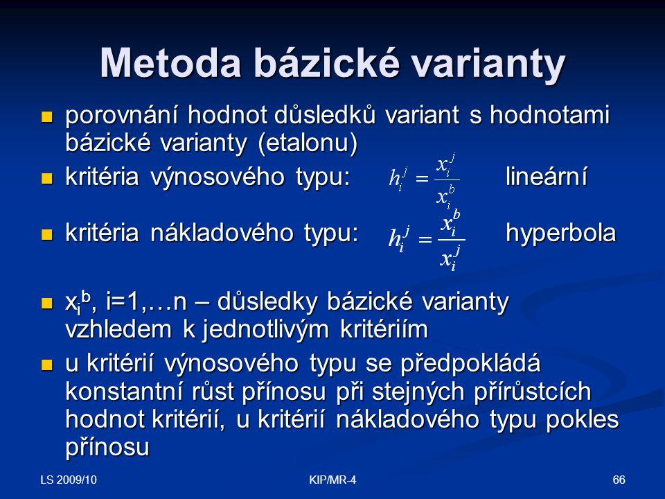 Metoda bázické varianty