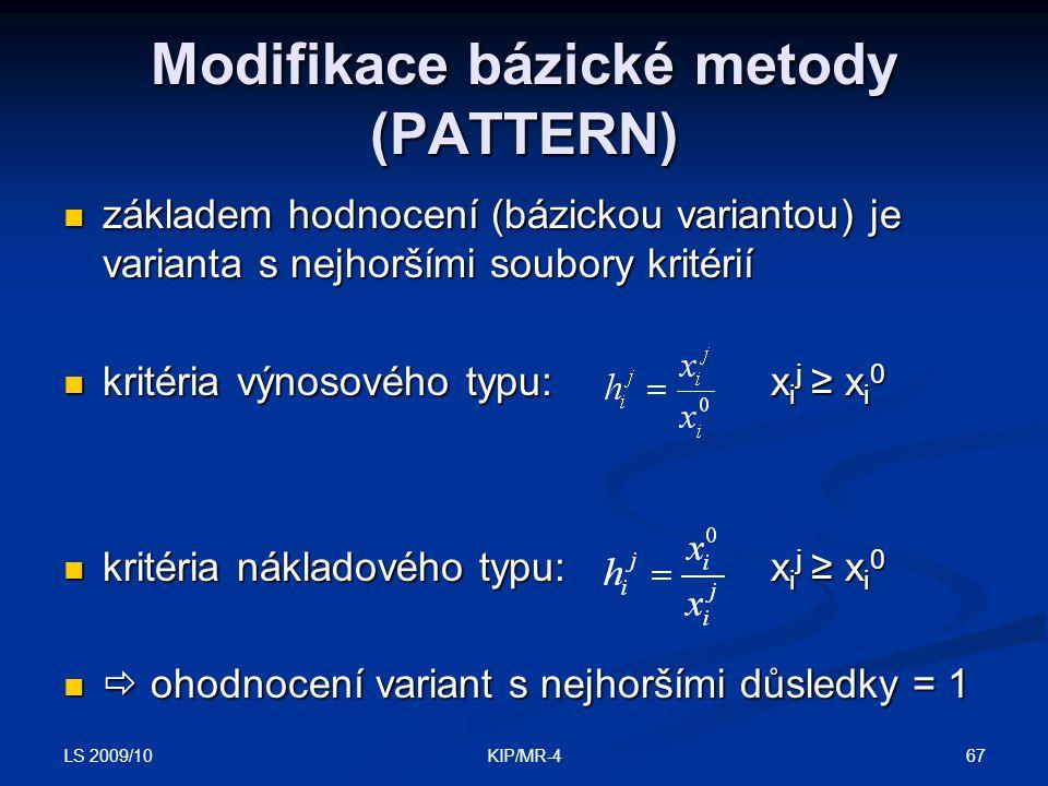Modifikace bázické metody (PATTERN)