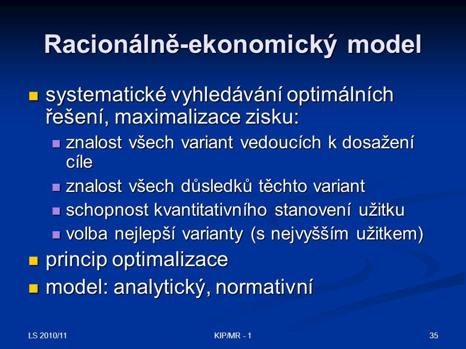 Racionálně-ekonomický model