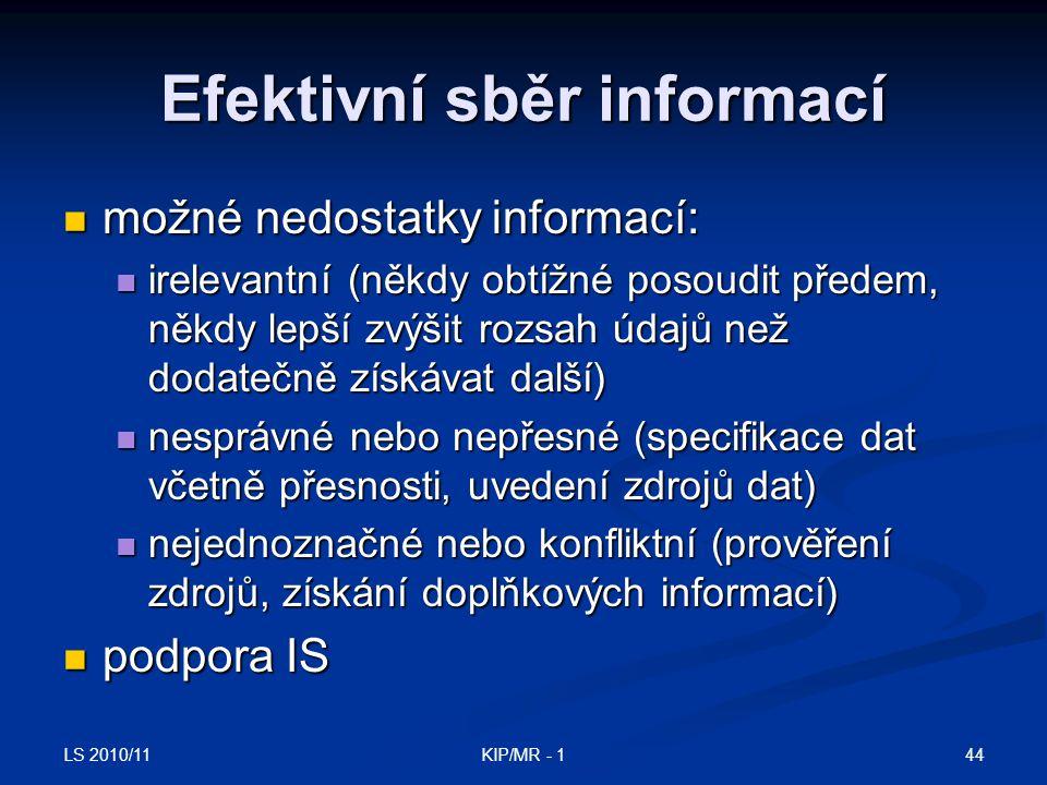 Efektivní sběr informací