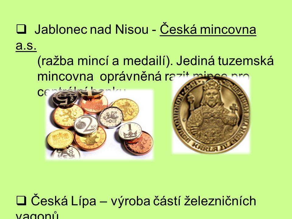 Jablonec nad Nisou - Česká mincovna a.s.