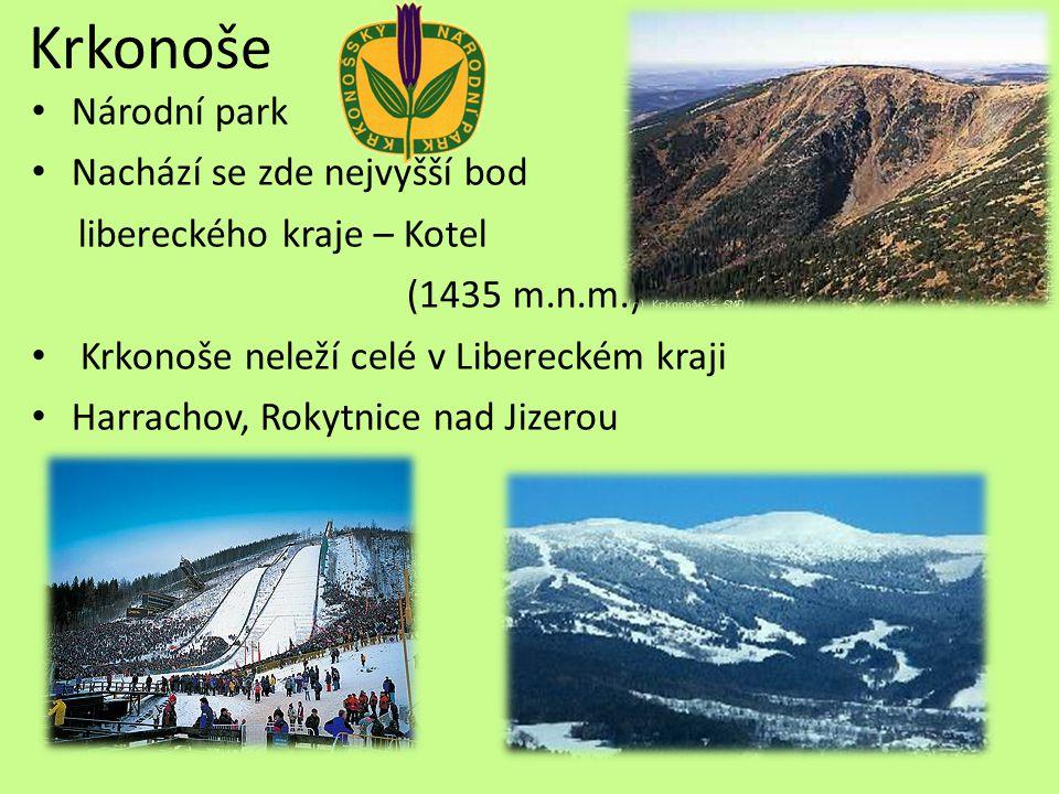 Krkonoše Národní park Nachází se zde nejvyšší bod