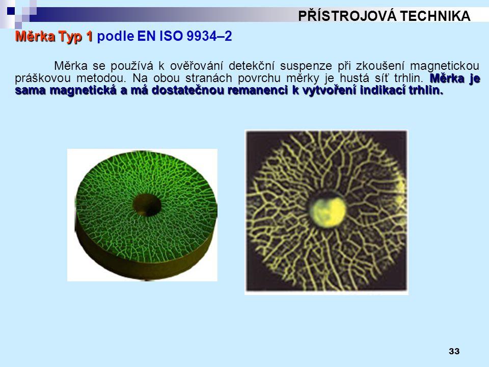 PŘÍSTROJOVÁ TECHNIKA Měrka Typ 1 podle EN ISO 9934–2.