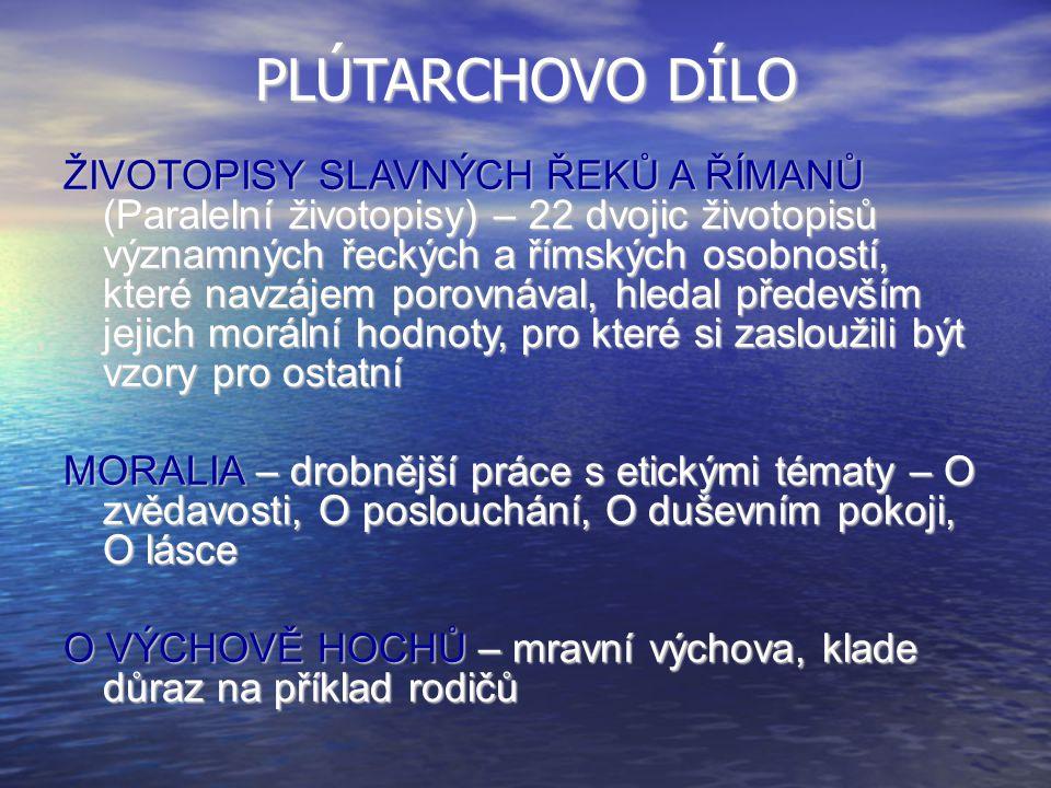 PLÚTARCHOVO DÍLO