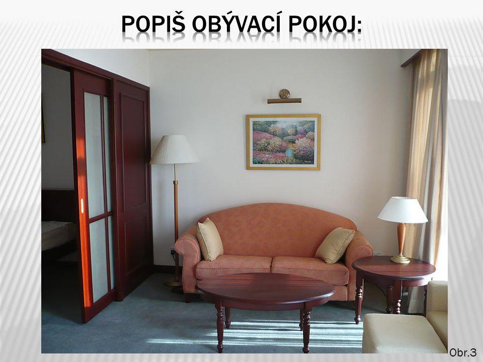 Popiš obývací pokoj: Obr.3