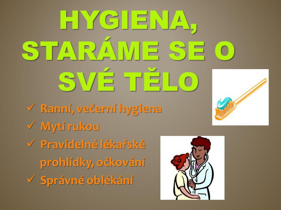 Hygiena, staráme se o své tělo