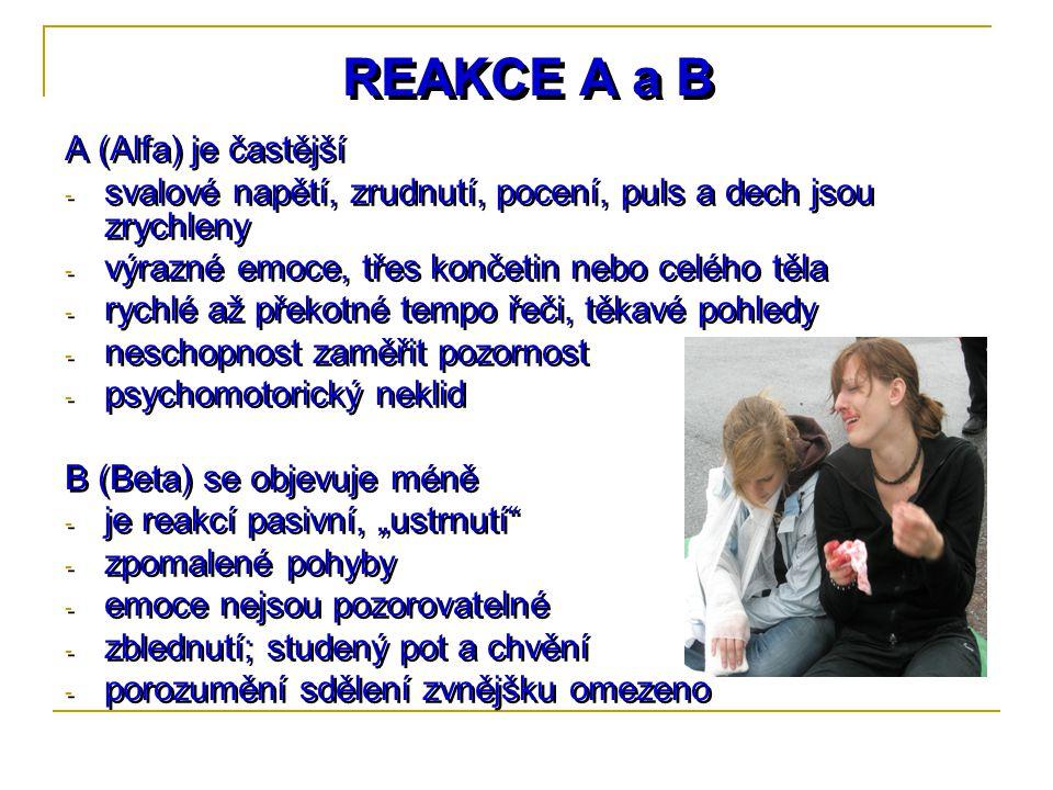 REAKCE A a B A (Alfa) je častější