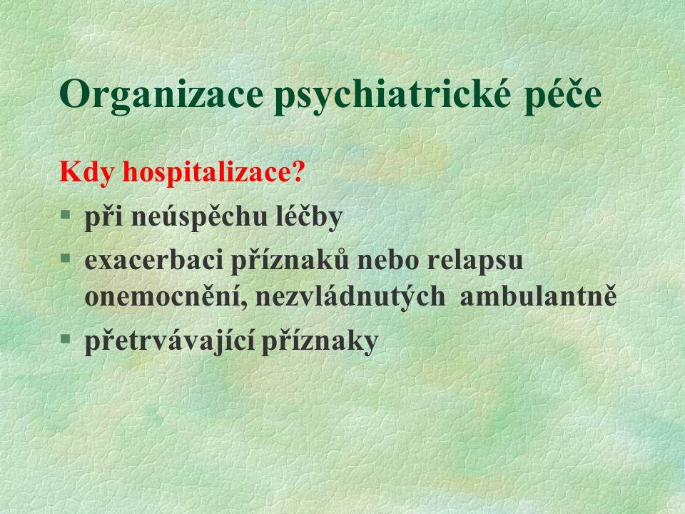 Organizace psychiatrické péče