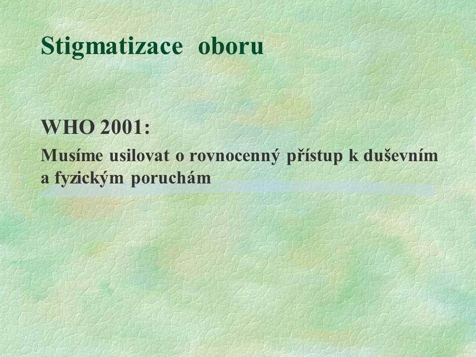 Stigmatizace oboru WHO 2001: