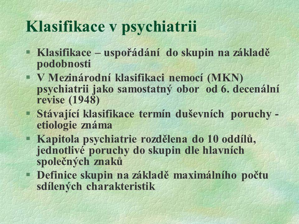Klasifikace v psychiatrii