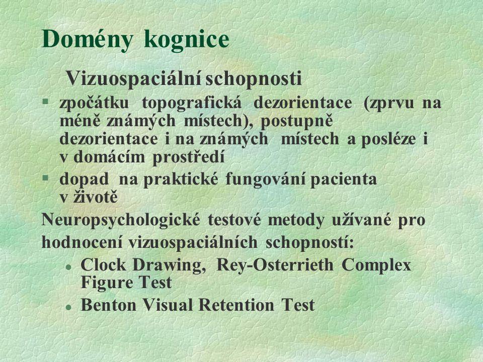 Domény kognice Vizuospaciální schopnosti