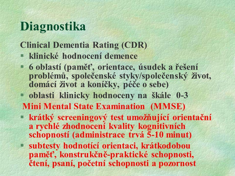 Diagnostika Clinical Dementia Rating (CDR) klinické hodnocení demence