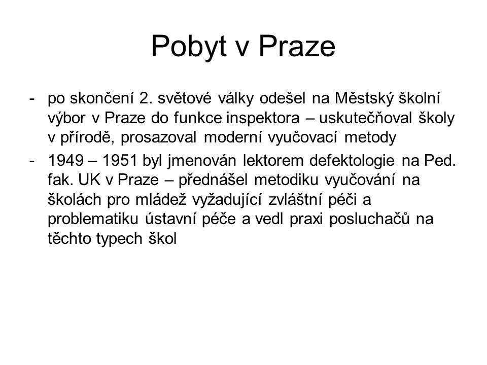 Pobyt v Praze