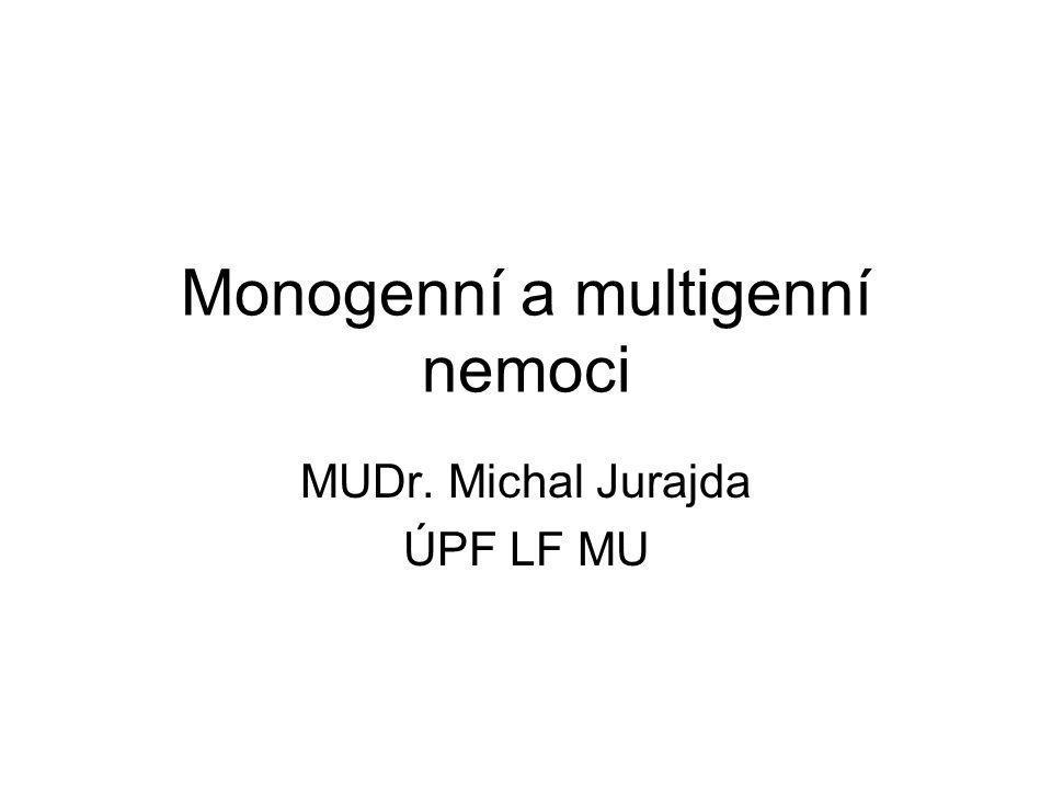 Monogenní a multigenní nemoci