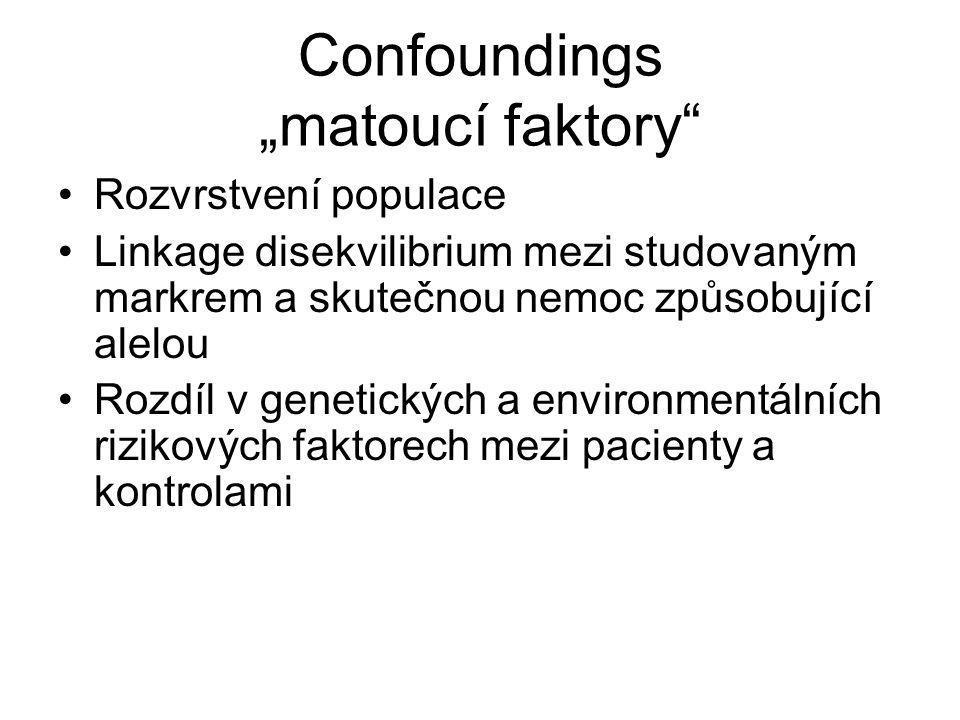 "Confoundings ""matoucí faktory"
