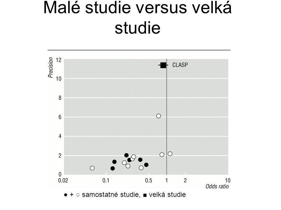 Malé studie versus velká studie