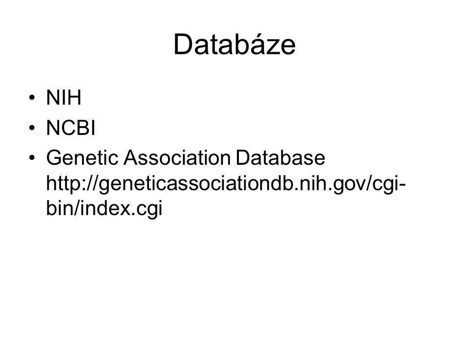 Databáze NIH. NCBI.