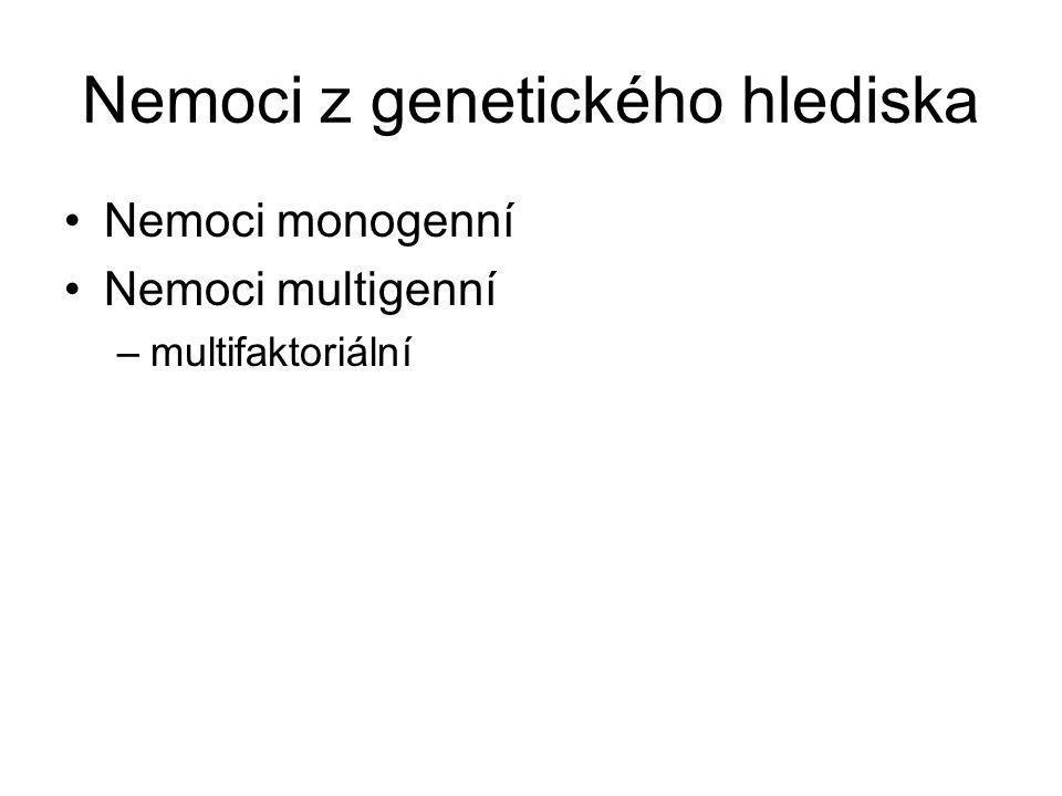 Nemoci z genetického hlediska