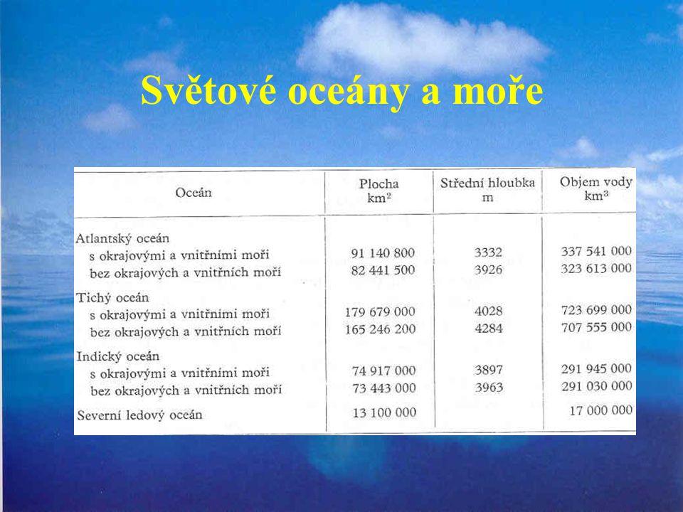 Světové oceány a moře