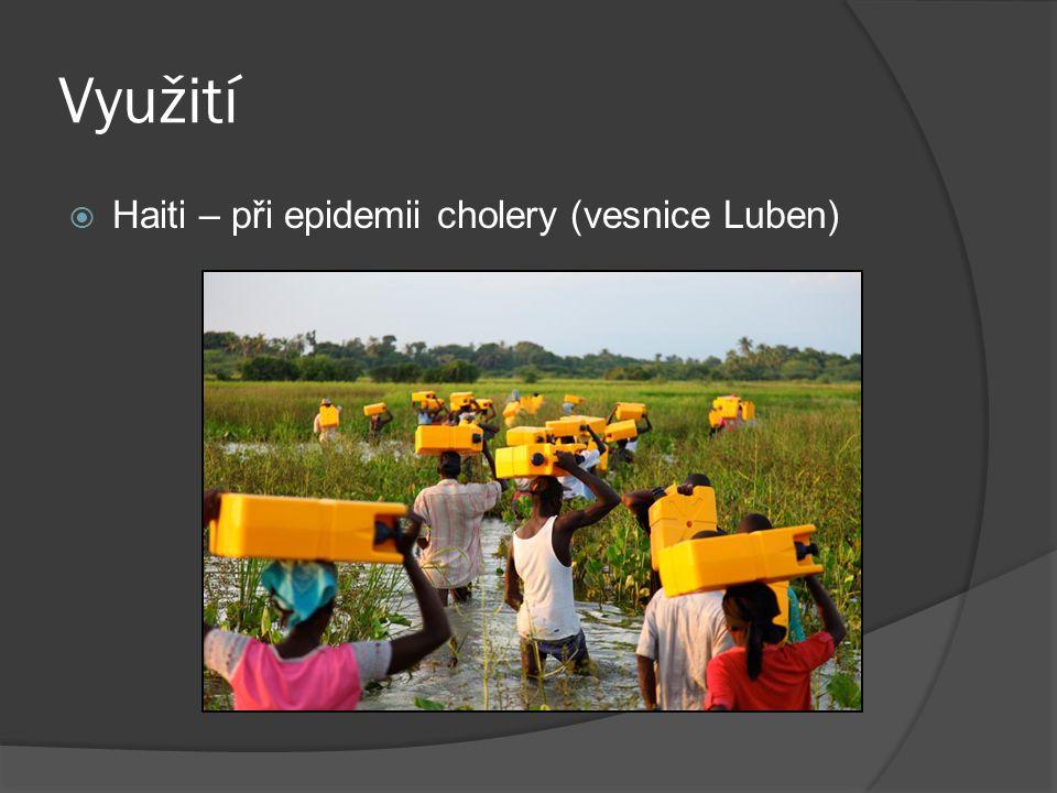 Využití Haiti – při epidemii cholery (vesnice Luben)