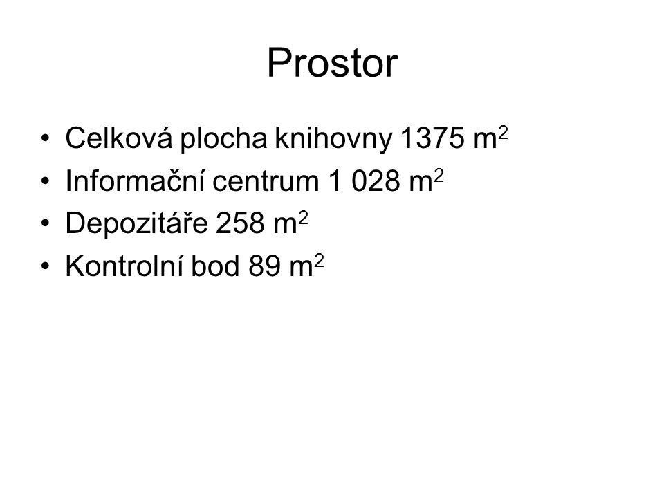 Prostor Celková plocha knihovny 1375 m2 Informační centrum 1 028 m2