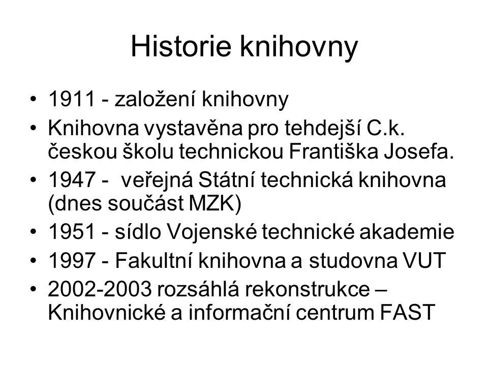 Historie knihovny 1911 - založení knihovny