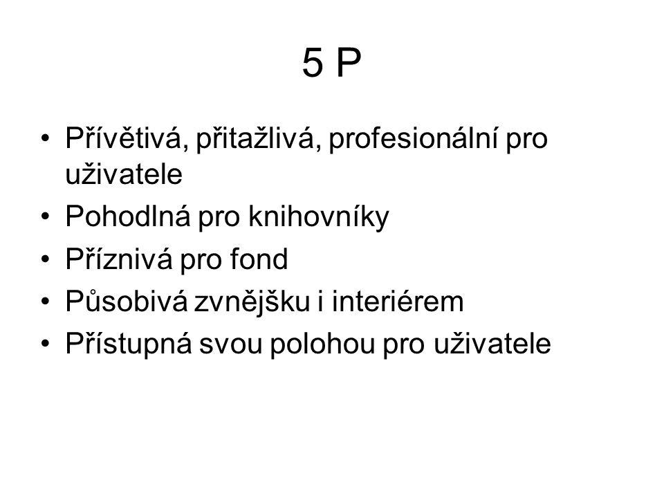 5 P Přívětivá, přitažlivá, profesionální pro uživatele