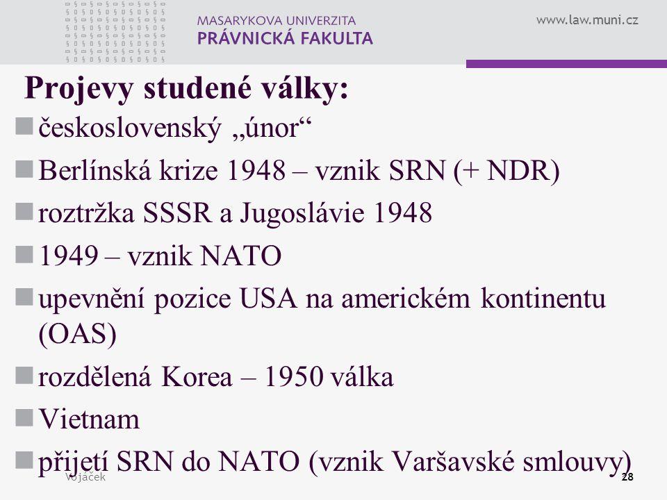 Projevy studené války: