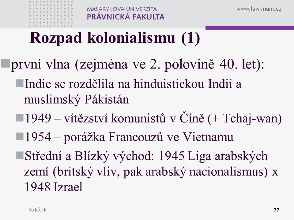 Rozpad kolonialismu (1)