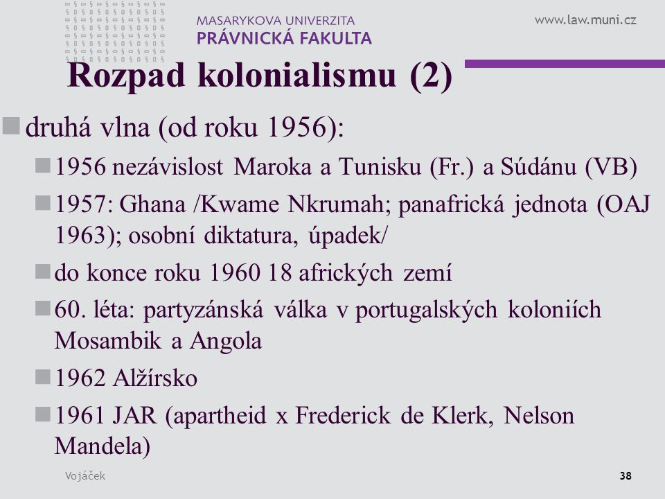 Rozpad kolonialismu (2)