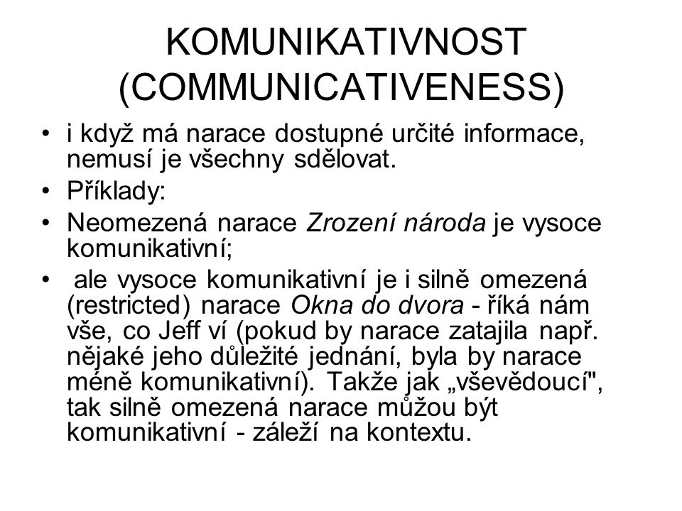 KOMUNIKATIVNOST (COMMUNICATIVENESS)