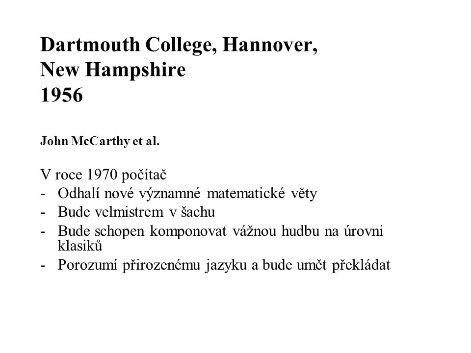 Dartmouth College, Hannover, New Hampshire 1956