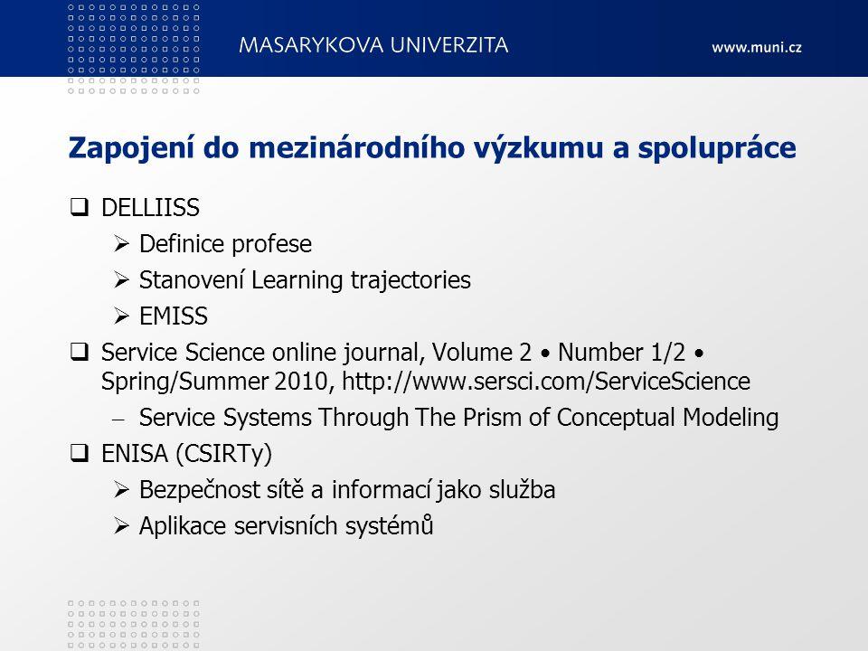 Zapojení do mezinárodního výzkumu a spolupráce