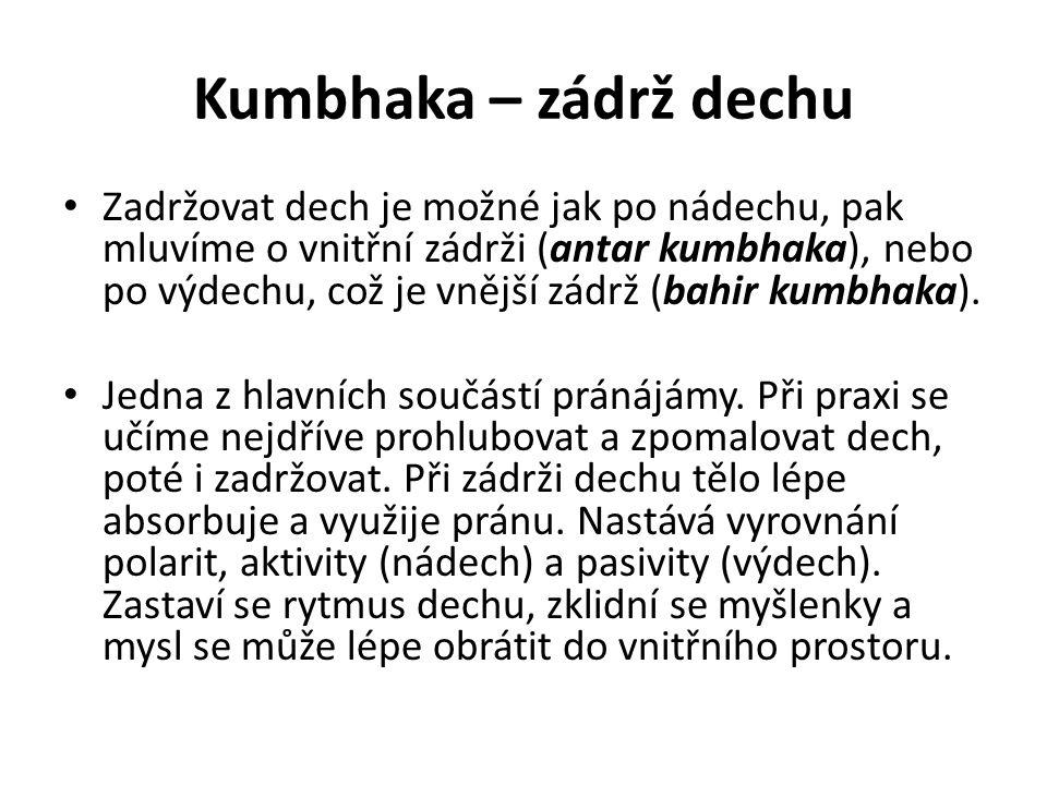 Kumbhaka – zádrž dechu